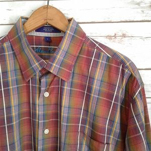 Alan Flusser Rainbow Plaid Button Down Shirt